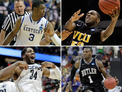 Kentucky, UConn, VCU, and Butler are all two wins away from an NCAA championship. (AP Photos)