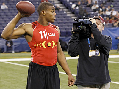 How high will Auburn QB Cam Newton go in April´s draft? (AP Photo / Michael Conroy)