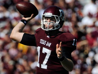 Texas A&M quarterback Ryan Tannehill is projected to go in the first round of the 2012 NFL draft. (Pat Sullivan/AP)
