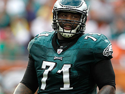 All-Pro offensive tackle Jason Peters tore his Achilles´ tendon in March. (Lynne Sladky/AP file photo)