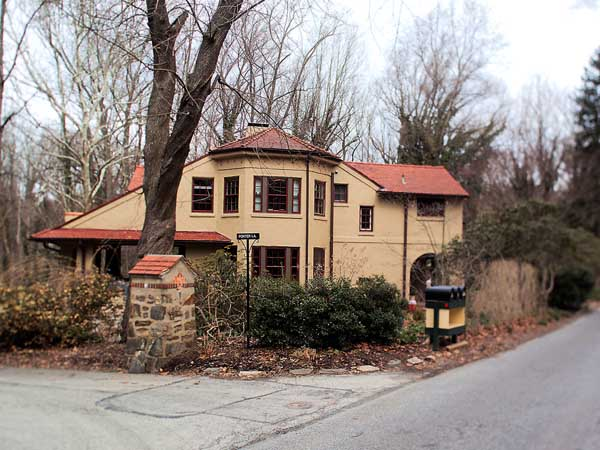 Tuesday March 25 2014  Rose Valley, the Delaware County borough which embodied the arts and crafts movement of the early 20th century.  Here, a home on Possum Hollow Lane and Porter Lane.( ED HILLE / Staff Photographer)