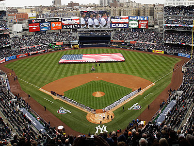 The Detroit Tigers play the New York Yankees in an opening day baseball game. (AP Photo/Frank Franklin II)