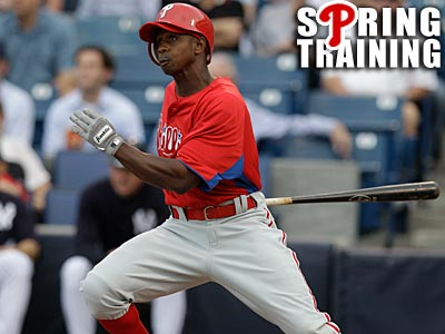 Juan Pierre had four hits, one RBI and one run but was caught stealing against the Yankees. (Kathy Willens/AP)
