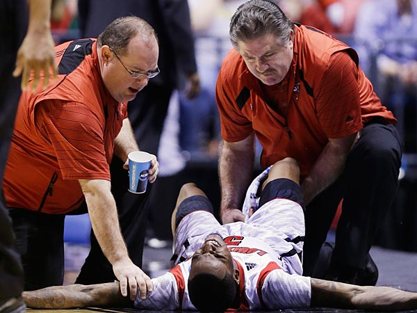 By now, most sports fans have heard about Kevin Ware's gruesome injury. Doug Collins and the Sixers weighed in on the injury. (Michael Conroy/AP)