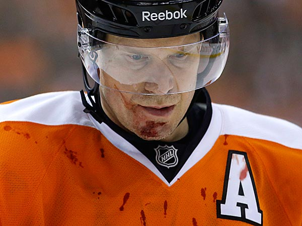 <br />Philadelphia Flyers&acute; Kimmo Timonen. (AP Photo/Matt Slocum)