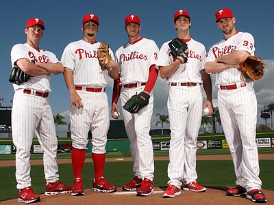 The Phillies pitching staff may have to cover for weak spots in the lineup. (Yong Kim/Staff Photographer)