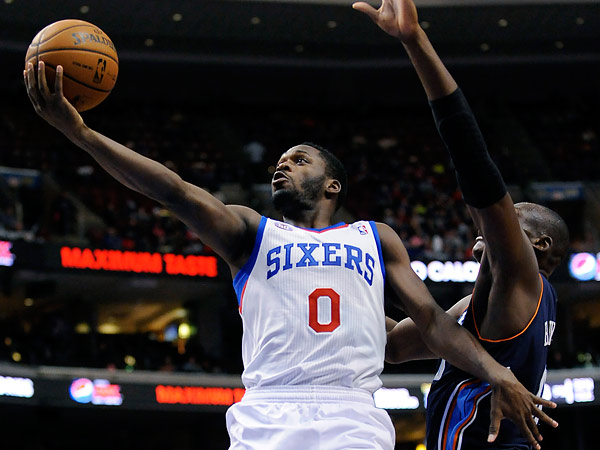 Jeremy Pargo averaged 4.9 points, two assists, 1.2 rebounds and 14.9 minutes in 14 games played with the Sixers. (Michael Perez/AP file photo)<br />