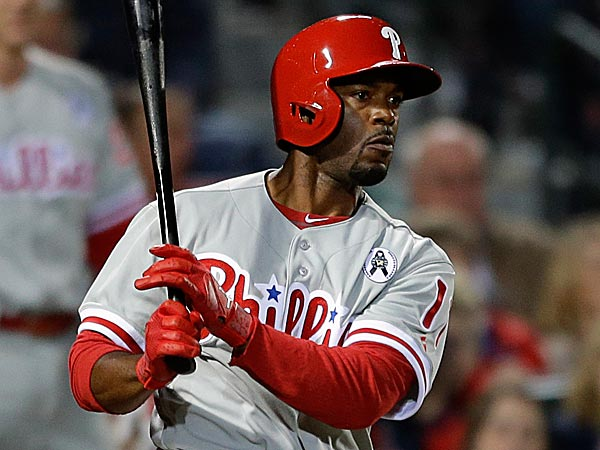 Jimmy Rollins hit second while speedy centerfielder Ben Revere was penciled into the leadoff spot. (David Goldman/AP)
