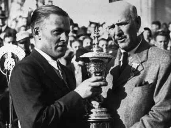 "Bobby Jones (left) won the U.S. Amateur golf tournament at Merion in 1930 and a journalist coined the term ""Grand Slam."" (Associated Press file photo)"