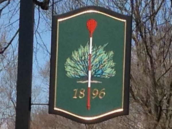 Merion Golf Club entrance sign (Brian X. McCrone / Philly.com)