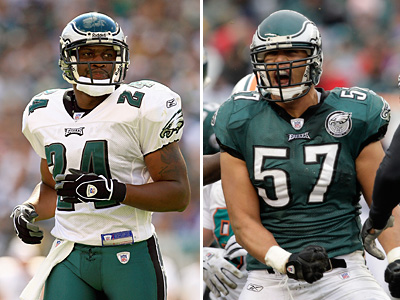 The Eagles have completed a trade with the Browns, sending Chris Gocong (right) and Sheldon Brown to Cleveland. (Staff file photos)