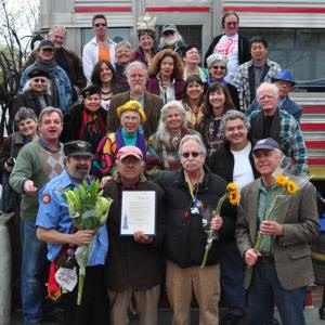 Official 20th-anniversary group portrait of Philadelphia´s Dumpster Divers, taken April 1, 2012. (I. George Bilyk)