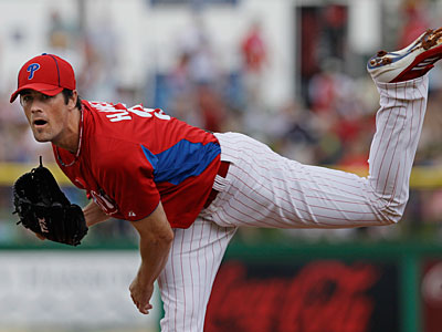 Cole Hamels will likely take on Anibal Sanchez in the Phillies first series against the Marlins this season on April 9. (Kathy Willens/AP)