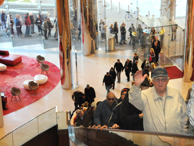 A long line snakes from the front door to the gambling floor of Revel Casino & Resort in Atlantic City at the 7 a.m. preview opening of the new facility. (Clem Murray / Staff Photographer)