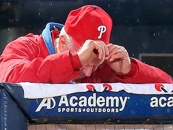 Charlie Manuel can barely watch his offense anymore. Now he has a pitcher headed to the DL, too.  (Curtis Compton/AP)