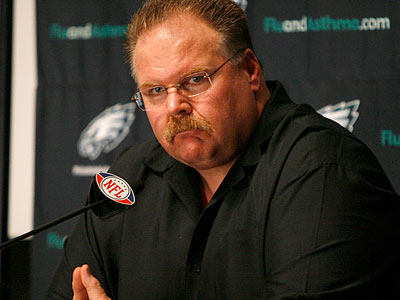 """This was a tough decision for many people,"" Eagles coach Andy Reid said. (Charles Fox/Staff Photographer)"