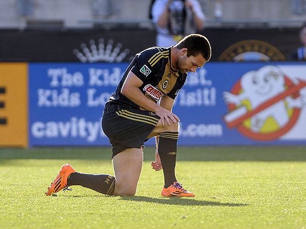 The Union have traded striker Jack McInerney to the Montréal Impact. (John Geliebter/USA Today Sports)