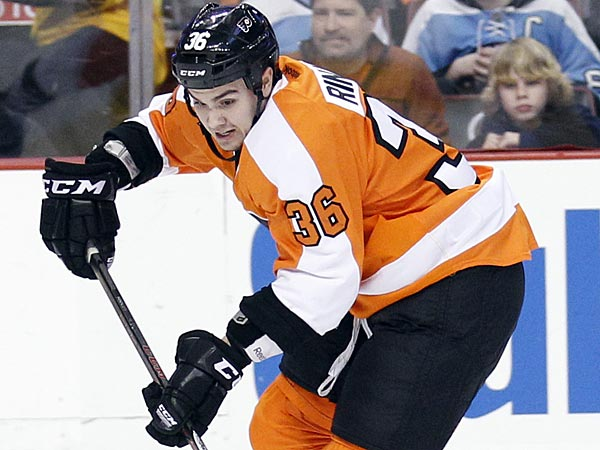 Flyers foward Zac Rinaldo. (Yong Kim/Staff Photographer)