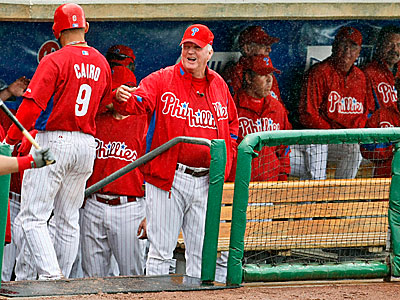 The Phillies announced that Miguel Cairo will make the team, finalizing the Opening Day roster. (AP Photo)