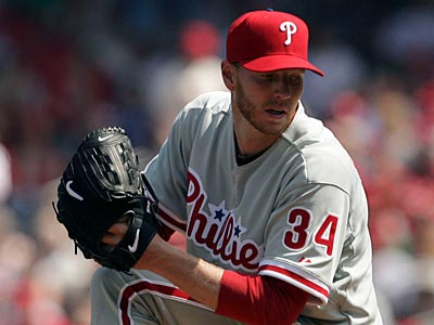 Roy Halladay pitched seven innings, allowed one run and struck out nine batters against the Nationals today. (Yong Kim / Staff Photographer)
