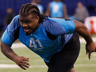 Dontari Poe is considered by analysts to be the top defensive tackle in the NFL draft. (Dave Martin/AP Photo)