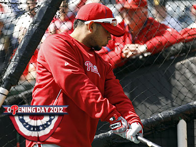 Freddy Galvis takes batting practice prior to the Phillies´ opening day game against the Pirates. (Yong Kim/Staff Photographer)