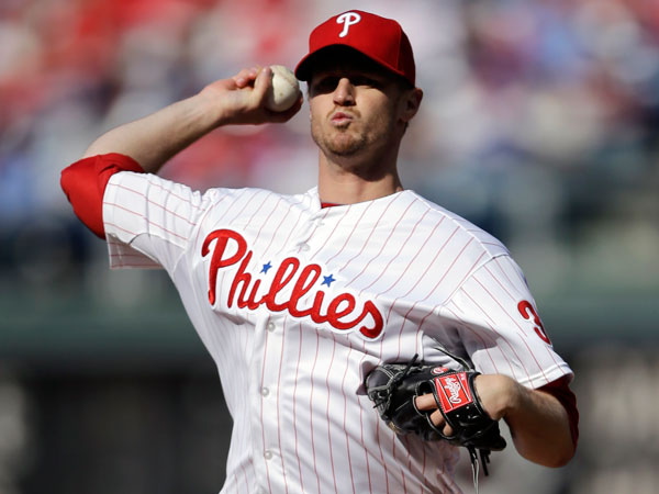 Kyle Kendrick during an opening day baseball game against the Kansas City Royals, Friday, April 5, 2013, in Philadelphia. (Matt Slocum/AP)