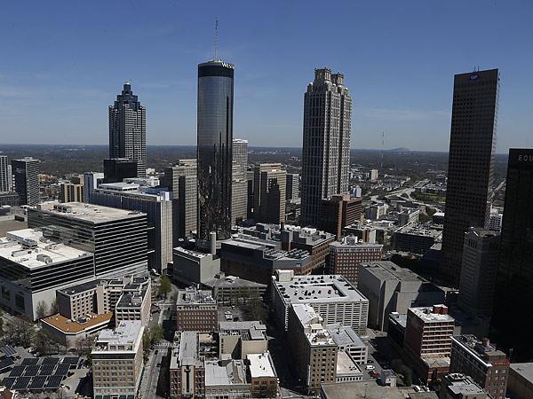 The downtown Atlanta skyline. (Mike Stewart/AP)