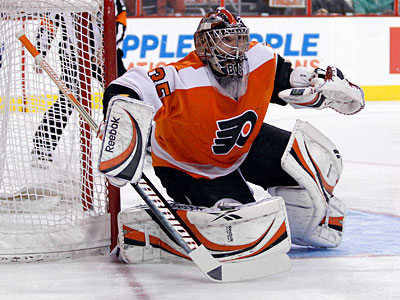Peter Laviolette said Sergei Bobrovsky will be the No. 1 goalie for the playoffs. (Yong Kim/Staff Photographer)