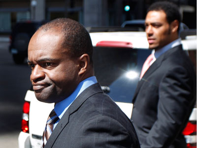 DeMaurice Smith leaves the Federal Courthouse in St. Paul, Minn. (Andy King/AP Photo)
