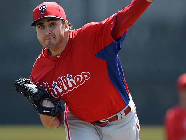 Philadelphia Phillies starting pitcher John Lannan. (AP Photo/Kathy Willens)