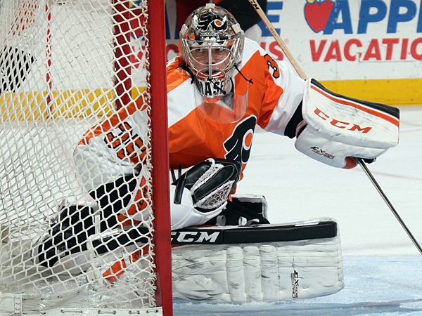 Flyers goalie Steve Mason. (Bruce Bennett/Getty Images)