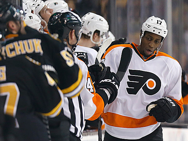The Flyers´ Wayne Simmonds. (Michael Dwyer/AP)