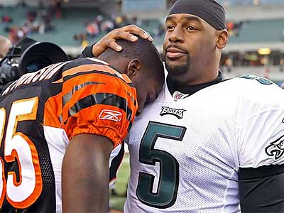 Does Donovan McNabb want to have Chad Johnson as a teammate next season? (Steven M. Falk / File photo)