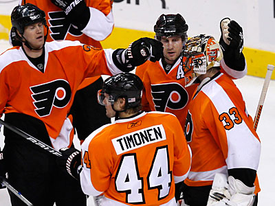 The Flyers gained a 2-0 shutout win over the Maple Leafs on Tuesday. (Ron Cortes / Staff Photographer)