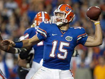 Where will Tim Tebow go in April´s draft? (AP Photo/Phil Sandlin)
