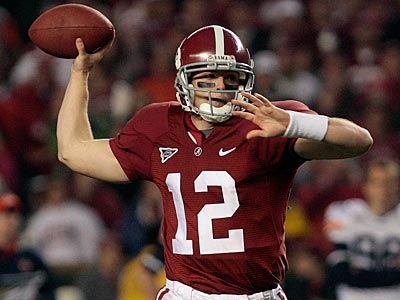 Former University of Alabama QB Greg McElroy will have a private workout for the Eagles. (Dave Martin/AP Photo)