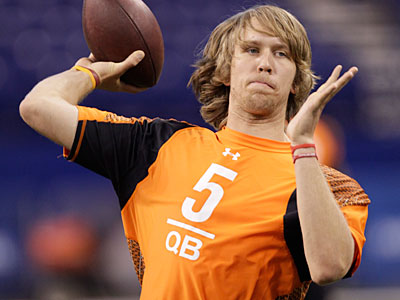 The Eagles worked out Arizona QB Nick Foles earlier this week, according to a report. (AP Photo / Michael Conroy)