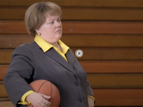 Melissa McCarthy (Mike & Molly) as one Sheila Kelly, the coach of the women's basketball coach at Division III school, Middle Delaware State.
