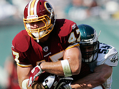 Washington Redskins tight end Chris Cooley spoke about how pleased he is to line up next to Donovan McNabb. (AP Photo/Mel Evans)