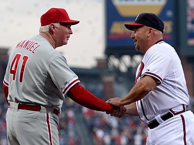 Fredi Gonzalez has plenty of lefties to make Charlie Manuel´s mind spin. (David Goldman/AP Photo)