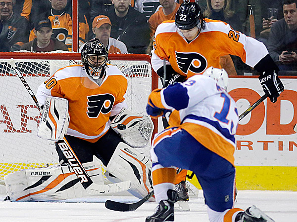 Since dropping a decision to the Flyers, the Islanders have moved closer to their first playoff spot in six years. (Matt Slocum/AP)