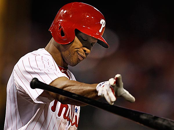 The Phillies´ Ben Revere reacts after striking out. (Ron Cortes/Staff Photographer)