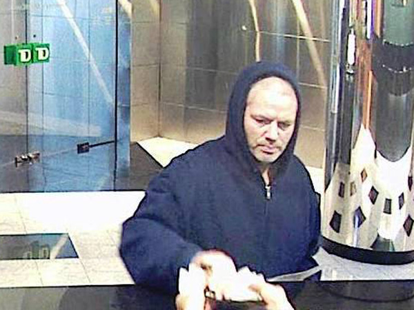 A bank robber believed to have struck three Frankford Avenue branches earlier in the year hit a Center City bank April 6, 2013. (FBI)