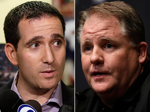Eagles general manager Howie Roseman and head coach Chip Kelly. (Matt Rourke/AP)