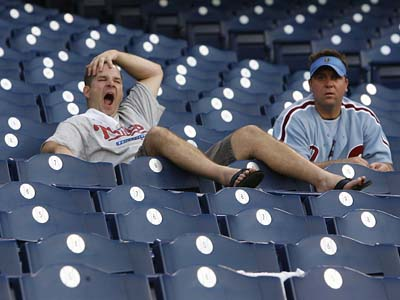 The Phillies may have gotten off the a lethargic start, but their fans seem to be asleep at the wheel as well. (Charles Fox / Staff File Photo)