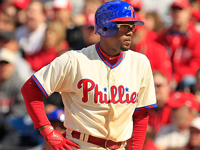 Phillies shortstop Jimmy Rollins is out of the lineup to spend time with his wife and newborn daughter (Ron Cortes/Staff Photographer).