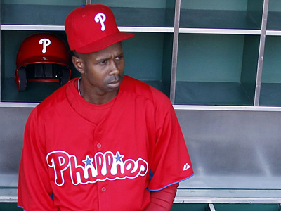 Juan Pierre will bat in the lead-off spot for the Phillies on today´s home opener against the Marlins.  (Yong Kim / Staff Photographer)