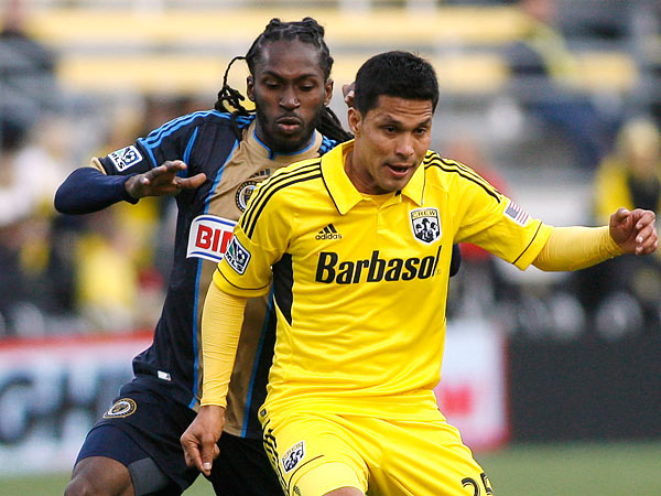 Keon Daniel´s versatility in midfield has made him a regular starter for the Union this season. (Mike Munden/AP)