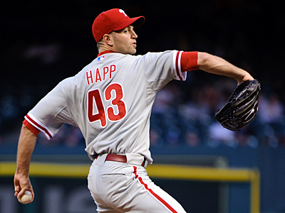Starter J.A. Happ pitches for the Phillies today for the first time since April. (AP Photo/Dave Einsel)